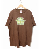 ラップTシャツ(ラップTシャツ)の古着「[古着]90's OUTKAST HIPHOP Tシャツ」|ブラウン