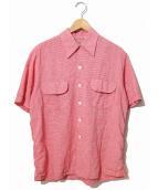 PALMDAYL(パームデール)の古着「[古着]ヴィンテージS/Sギンガムシャツ」|ピンク