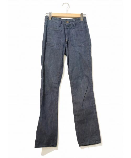 Wrangler(ラングラー)Wrangler (ラングラ) [古着]ヴィンテージ デニム パンツ インディゴ サイズ:14表記  斜めベル・eclairジップ・60's・濃紺の古着・服飾アイテム