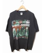 バンドTシャツ(バンドTシャツ)の古着「[古着]90's white zombie バンドTシャツ」|ブラック