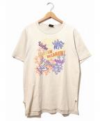 ラップTシャツ(ラップTシャツ)の古着「[古着]90sプリントTシャツ」|ベージュ