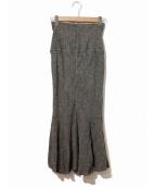 Snidel(スナイデル)の古着「コットンリネンマーメイドスカート」|グレー