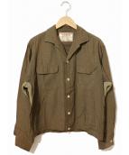 McGREGOR(マクレガー)の古着「[古着]ヴィンテージナイロンオープンカラーシャツ」|カーキ