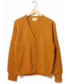 BRENT(ブレント)の古着「[古着]ヴィンテージカーディガン」|オレンジ