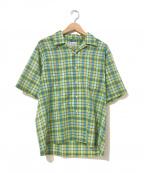 TOWN CRAFT(タウンクラフト)の古着「[古着]ヴィンテージボックスチェックシャツ」 グリーン