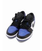 NIKE(ナイキ)の古着「AIR JORDAN1 LOW ROYAL TOE」|ブルー×ブラック