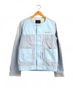 08sircus(ゼロエイトサーカス)の古着「パーツ切替リメイクデニムジャケット」 ブルー