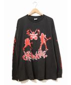 バンドTシャツ(バンドTシャツ)の古着「[古着]90's carnivore バンドロンTEE」|ブラック