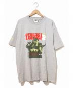 ラップTシャツ(ラップTシャツ)の古着「[古着]HIP-HOP Tシャツ」|グレー