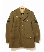 VINTAGE MILITARY(ヴィンテージ ミリタリー)の古着「[古着]40'sミリタリードレスジャケット」|カーキ