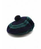 L.L.Bean(エルエルビーン)の古着「[古着]ベレー帽」|ネイビー×グリーン