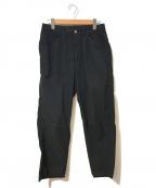 bukht(ブフト)の古着「シアサッカートラウザーズパンツ」 ブラック