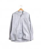 INDIVIDUALIZED SHIRTS(インディビジュアライズドシャツ)の古着「開襟オックスフォードシャツ」|グレー
