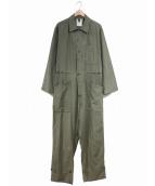 VINTAGE MILITARY(ヴィンテージ ミリタリー)の古着「[古着]80'sオールインワン / ジャンプスーツ」|カーキ