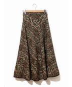 muller of yoshiokubo(ミュラーオブヨシオクボ)の古着「カーリーウールスカート」|ブラウン