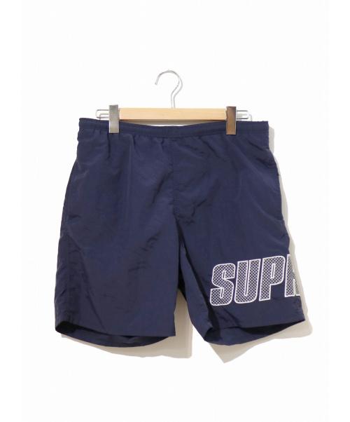 Supreme(シュプリーム)Supreme (シュプリーム) ロゴアップリケウォーターショーツ ネイビー サイズ:M 19SS LOGO APPLIQUE WATER SHORTの古着・服飾アイテム