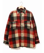 PILGRIM(ピルグリム)の古着「[古着]ヴィンテージウールチェックシャツ」|レッド