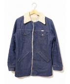 Wrangler(ラングラー)の古着「[古着]70'sボアデニムジャケット」|インディゴ