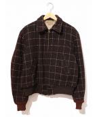 niagara sport(ナイアガラスポーツ)の古着「[古着]ヴィンテージスポーツジャケット」|ブラウン