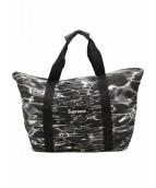Supreme(シュプリーム)の古着「リップルパッカブルトートバッグ」 ブラック×ホワイト