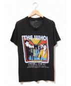 バンドTシャツ(バンドTシャツ)の古着「[古着]80's THE WHO バンドTシャツ」|ブラック