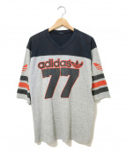 adidas()の古着「[古着]80'sフットボールTシャツ」 グレー