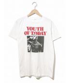 バンドTシャツ(バンドTシャツ)の古着「[古着]80's YOUTH OF TODAYバンドTシャツ」|ホワイト