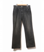 AURALEE()の古着「WASHED HARD TWIST DENIM 5P PAN」|ブラック