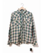 TMT(ティーエムティー)の古着「チェックウエスタンシャツ」|グリーン