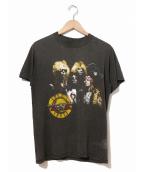 バンドTシャツ(バンドTシャツ)の古着「[古着]GUNS N ROSES 80'sバンドTシャツ」|ブラック