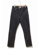 ()の古着「ブラックデニムパンツ」|ブラック