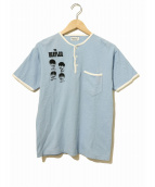バンドTシャツ(バンドTシャツ)の古着「[古着]60'sTHE BEATLESバンドTシャツ」|ブルー