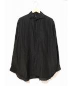 KAPTAIN SUNSHINE(キャプテンサンシャイン)の古着「リビエラロングスリーブシャツ」|ブラック