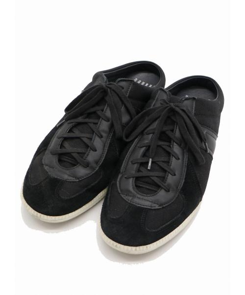 REPRODUCTION OF FOUND(リプロダクションオブファウンド)REPRODUCTION OF FOUND (リプロダクションオブファウンド) ジャーマントレーナースリッポンサンダル ブラック サイズ:28.5cmの古着・服飾アイテム