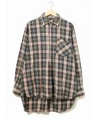 VINTAGE(ヴィンテージ/ビンテージ)の古着「[古着]フランネルグランパシャツ」