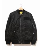 DIESEL(ディーゼル)の古着「MA-1ジャケット」|ブラック