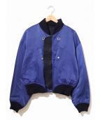 ISSEY MIYAKE(イッセイミヤケ)の古着「[OLD]リバーシブルMA-1ジャケット」 ネイビー