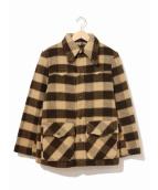 LEVIS(リーバイス)の古着「[古着]チェックシャギージャケット」|ベージュ×ブラウン