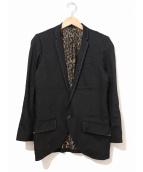 Roen(ロエン)の古着「スワロフスキースカルテーラードジャケット」 ブラック