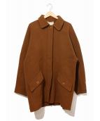 GUCCI(グッチ)の古着「[OLD]比翼ウールオーバーコート」|ブラウン