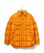 NATAL DESIGN(ネイタルデザイン)の古着「キルティングダウンシャツジャケット」 オレンジ