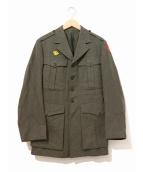 VINTAGE MILITARY(ヴィンテージ ミリタリー)の古着「[古着]40'sミリタリーウールドレスジャケット」|カーキ
