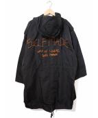 SELF MADE BY GIANFRANCO VILLEGAS(セルフメイド バイ ジャンフランコヴィレガス)の古着「バックロゴエンブロイドパーカー」|ブラック