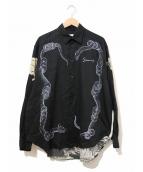 GIVENCHY(ジバンシィ)の古着「イカロスプリントシャツ」|ブラック