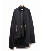 MARQUES ALMEIDA(マルケスアルメイダ)の古着「オーバーサイズトラックジャケット」|ブラック