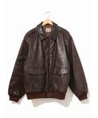 BANANA REPUBLIC(バナナリパブリック)の古着「[古着]A-2タイプレザージャケット」 ブラウン
