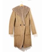 NO ID.(ノーアイディー)の古着「フェイクムートンリバーシブルフーデッドコート」|ベージュ