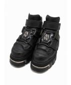 NEW ROCK(ニューロック)の古着「厚底ハイヒールロックブーツ」|ブラック