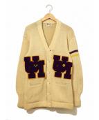 Princeton(プリンストン)の古着「[古着]50'sヴィンテージレタードカーディガン」|アイボリー