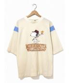 VINTAGE(ヴィンテージ/ビンテージ)の古着「[古着]70'sフットボールTシャツ」|ベージュ